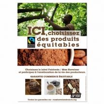 Affiche A3 filière cacao - Pack Proximité Max Havelaar France