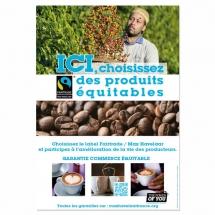Affiche A3 café coton - Pack Proximité Max Havelaar France