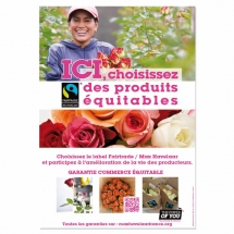 Affiche A3 filière fleurs - Pack Proximité Max Havelaar France