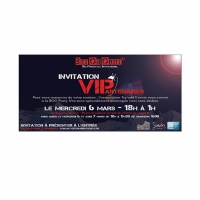 invitation VIP 21 x 10 cm