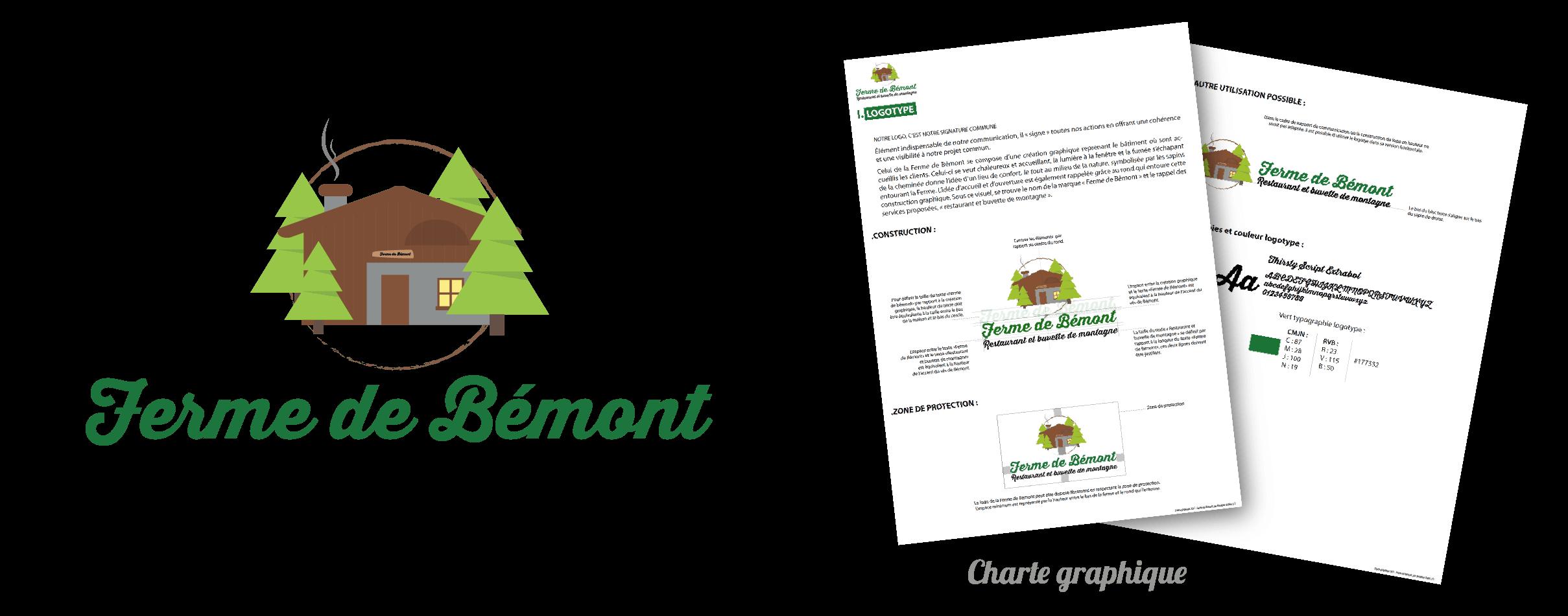 Image logotype et charte graphique Ferme de Bémont