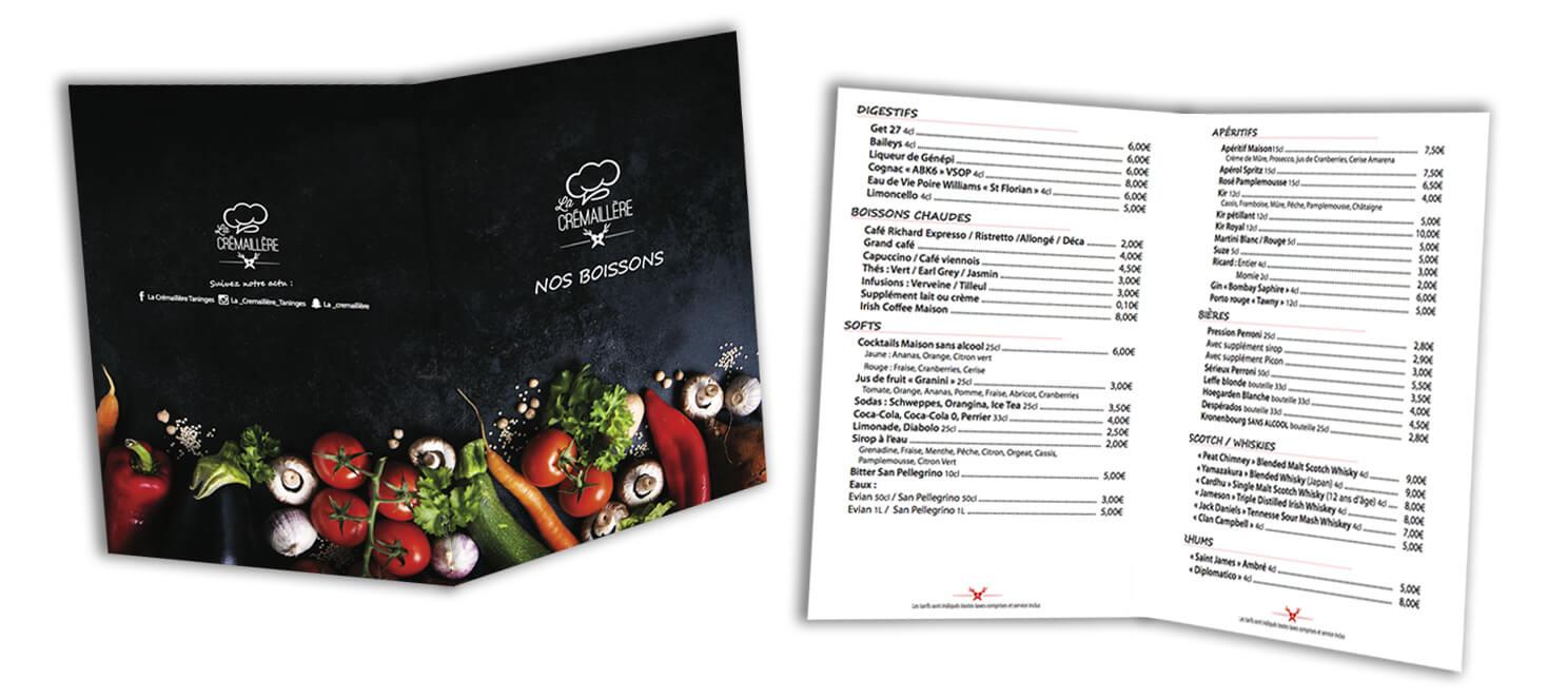 Image carte boisson restaurant la Crémaillère