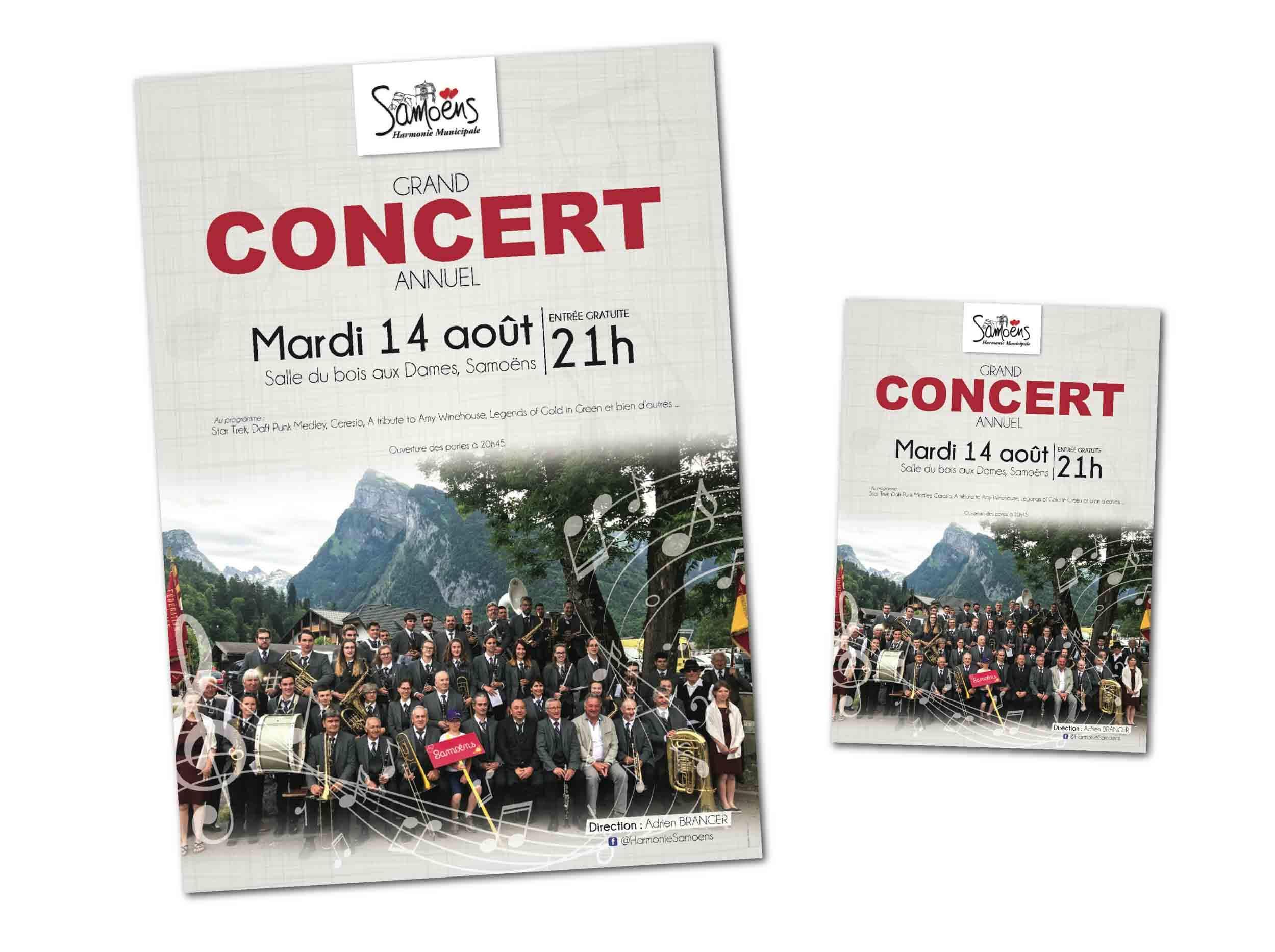 Visuel affiche et flyer Harmonie Municipale de Samoëns