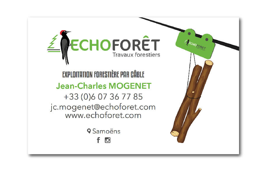 Visuel carte de visite Echoforet