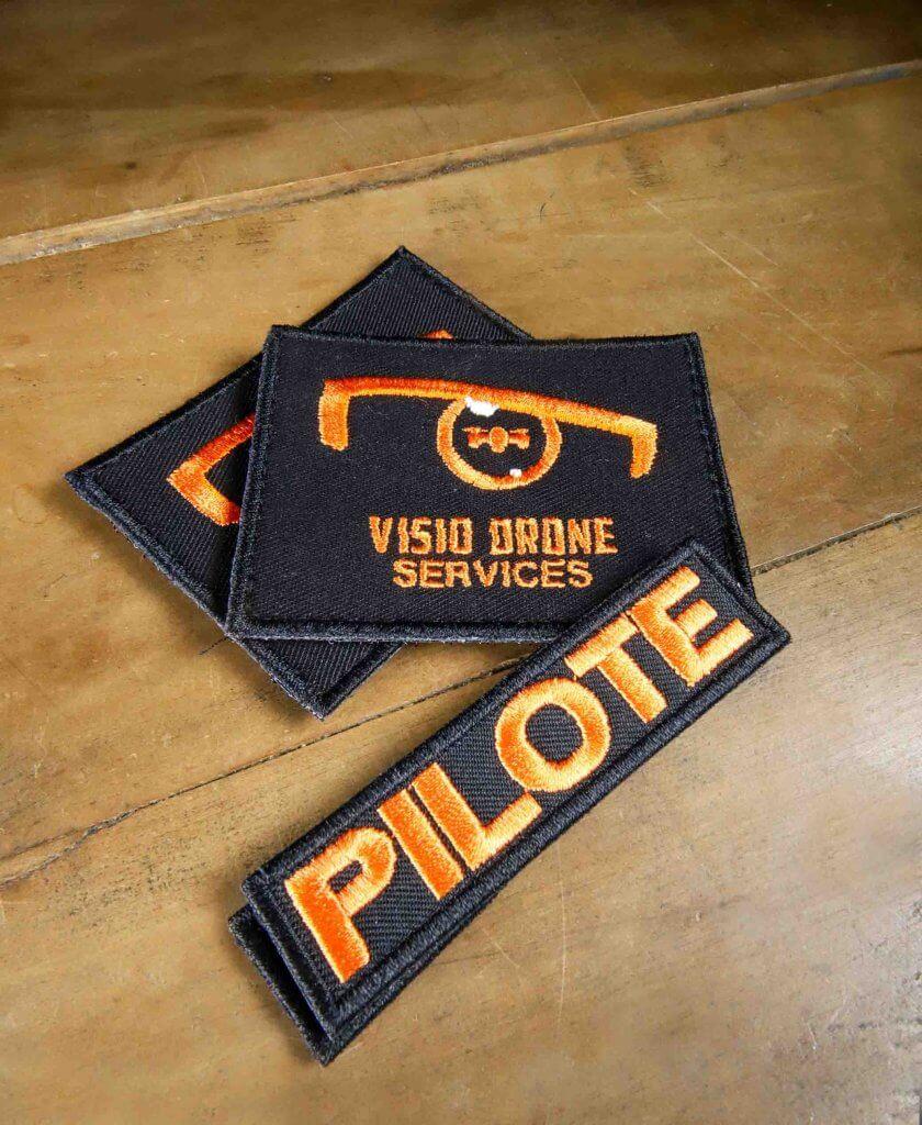 Ecussons velcro Visio Drone Service