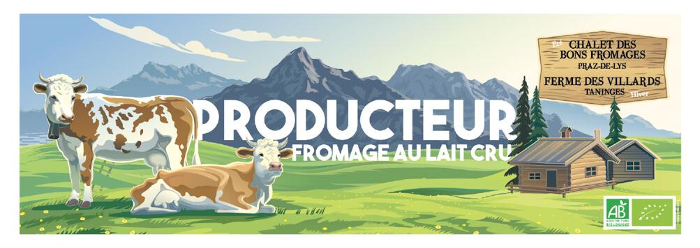 Banniere Chalet des Bons Fromages Ferme des Villards