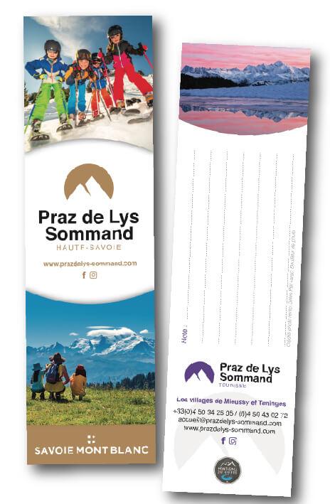 Marque-pages OT Praz de Lys Sommand